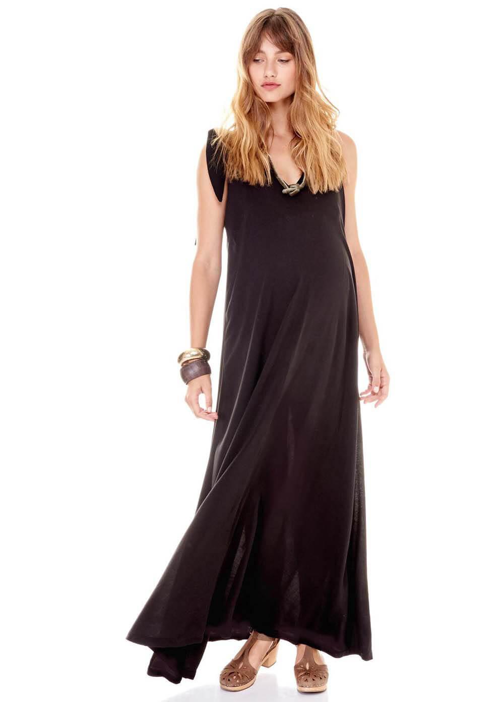 7f88024fd621 Jordan Maternity Maxi Dress in Black by Imanimo