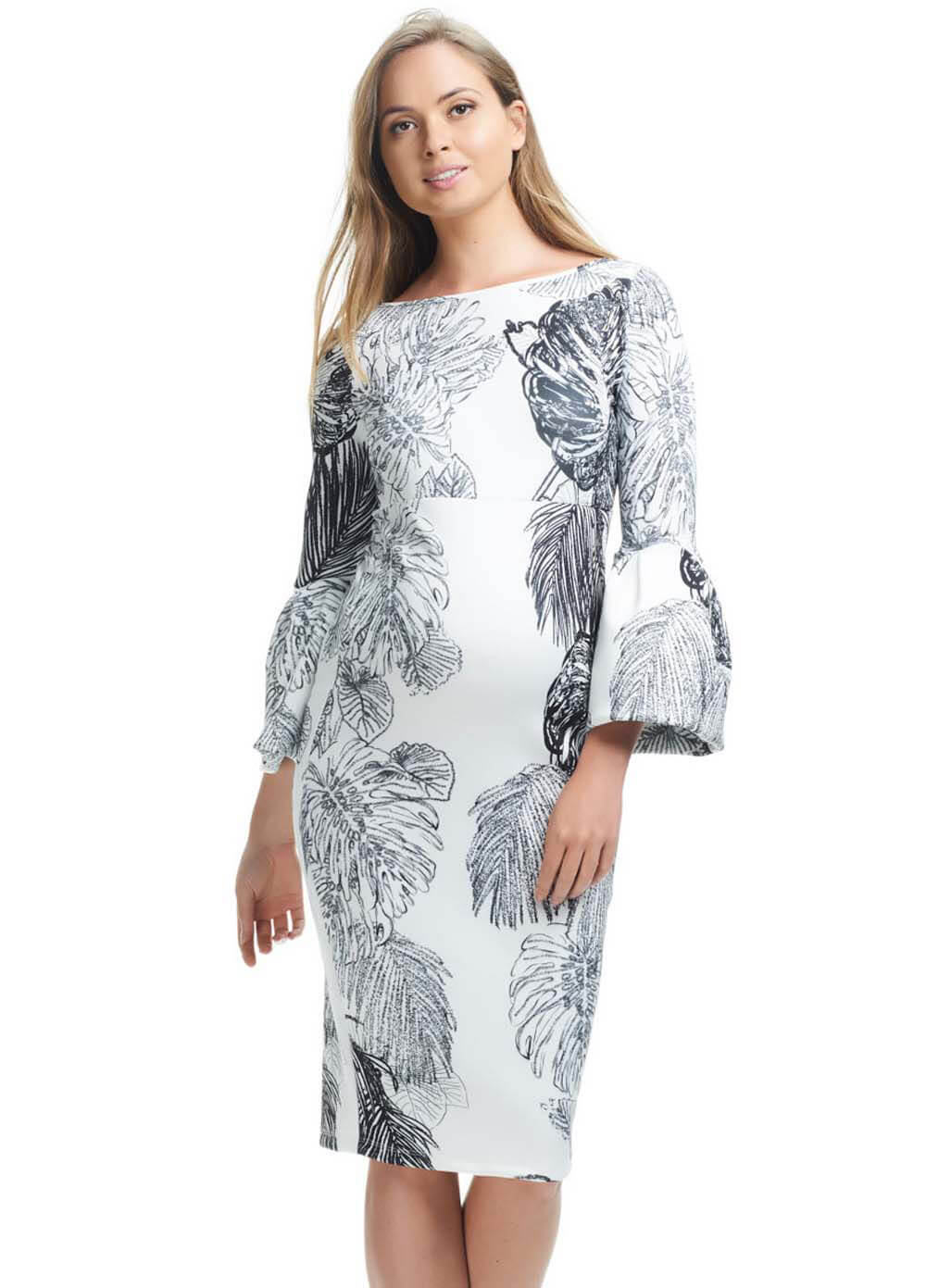 881eda2b6518 Myra Ruffled Sleeved Maternity Dress by Soon Maternity