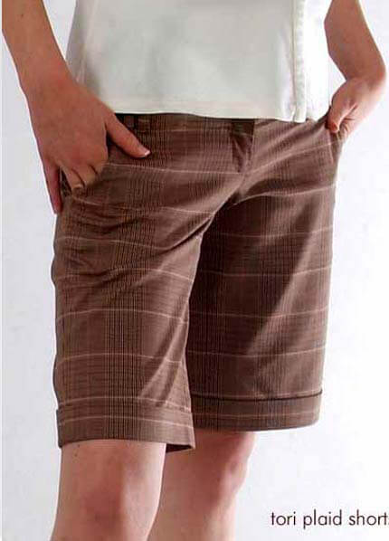NM002 - Tori Plaid Shorts ON SALE :  maternity shorts maternity maternity clothing maternity clothes
