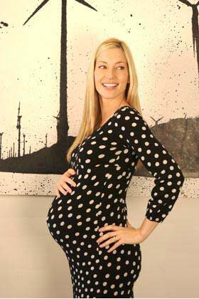 Childish - Polka Dot Maternity Dress - ON SALE :  maternity work clothes maternity clothing maternity maternity wear