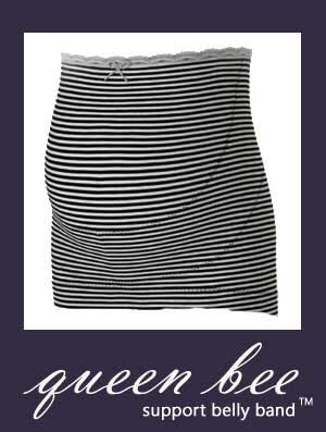 HB8075 - Queen Bee Support belly band - black/cream stripes