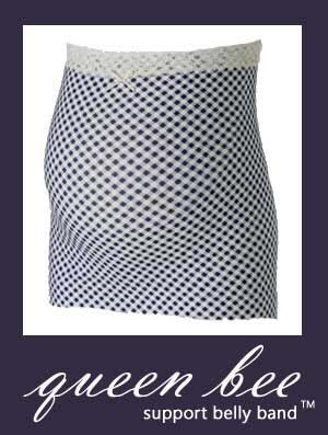 HB8077 - Queen Bee Support belly band - blue checks