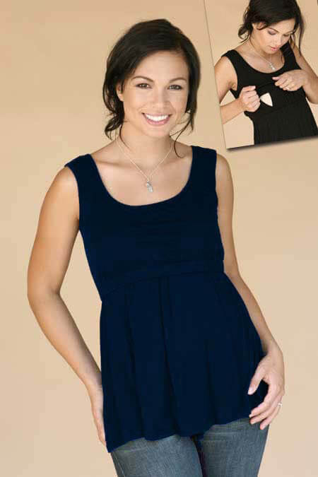 MR011 - Lucy Nursing Tank by Mayreau - 2 colours :  maternity top maternity maternity clothing maternity clothes