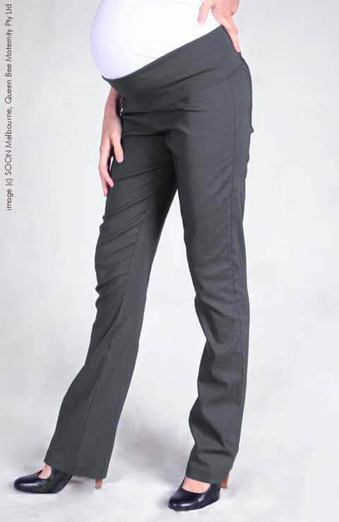 SNH6511b - SOON Work Pant in Charcoal - ON SALE :  maternity pants maternity fashion queen bee maternity maternity wear