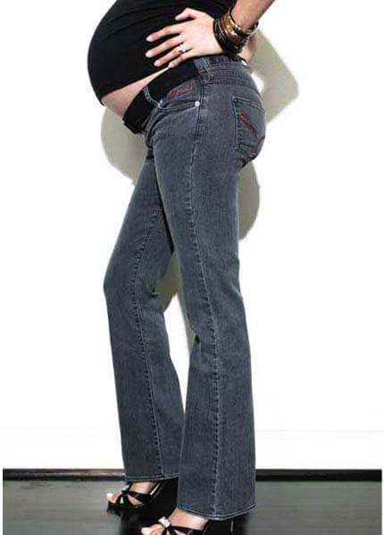 MamaJ Classic Denim Maternity Jean in Black Rinse DENIM SALE from queenbee.com.au