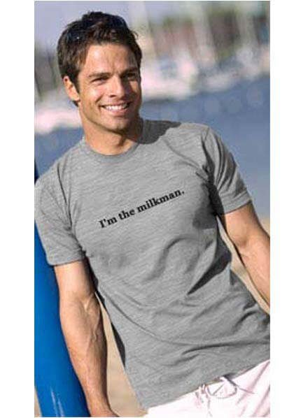IT-DT-16 - 2 chix I'm the Milkman Grey Daddy Tee :  daddy t shirt maternity maternity clothing maternity clothes