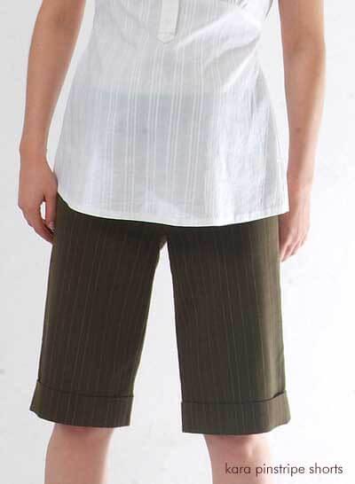 NM001 -  Kara Pinstripe Shorts ON SALE