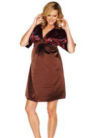 Everly Grey - Cynthia Evening Dress in Chocolate - ON SALE