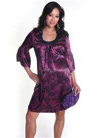 Everly Grey - Sonya Dress in Magenta Swirl - ON SALE