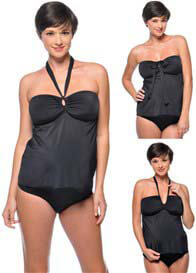 PregO - Maternity Tankini & Bikini in Black