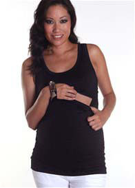 Quack Nursingwear - Jett Tank Top in Black Sparkle - ON SALE