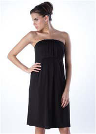 Seraphine - Aida Strapless Dress in Black