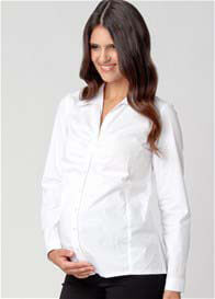 Ripe Maternity - Ruched Career Maternity Shirt - ON SALE