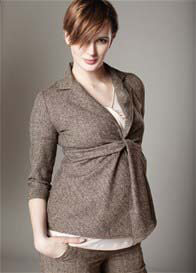 Maternal America - Front Tie Maternity Blazer - ON SALE