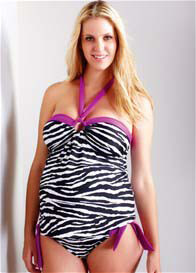 Maternal America - Tina Tankini in Zebra Print - ON SALE