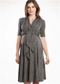 Maternal America - Herringbone Front Tie Dress - ON SALE