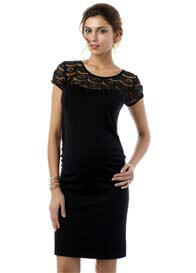 Seraphine - Dita Lace Insert Dress in Black