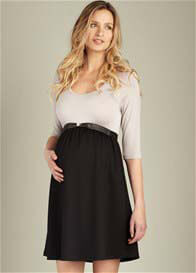 Maternal America - Scoop Neck Dress w Belt