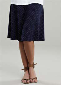 Maternal America - Navy Gold Spotted Skirt