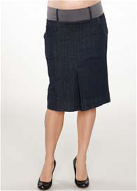 Maternal America - Denim Pleat Skirt - ON SALE