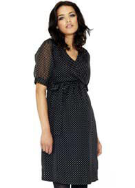 Crave - Key Hole Back Spot Dress