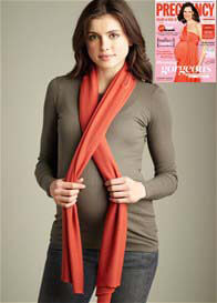 Maternal America - Orange Nursing Scarf