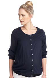 Esprit - Peasant Blouse in Navy - ON SALE