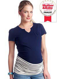 Esprit - Navy Striped Belly Band - ON SALE