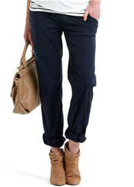 Esprit - Casual Navy Pants w Belt