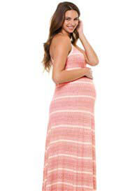 LA Made - Red Striped Maxi Dress - ON SALE