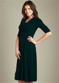 Maternal America - Tummy Tuck Nursing Dress with Sleeves
