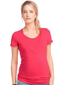 Esprit - Short Sleeve Nursing Tee in Azalea