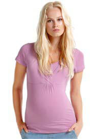 Esprit - Short Sleeve Nursing Tee in Lavender