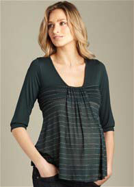 Maternal America - Green Flutter Top - ON SALE