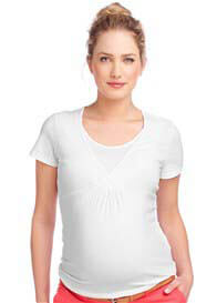 Esprit - Short Sleeve Nursing Tee in White