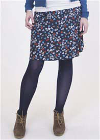 Queen mum - Leaf Print Skirt