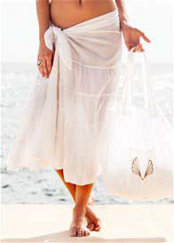 Deshabille - Long Island Sarong in White
