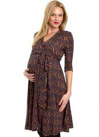 Everly Grey - Kaitlyn Dress in Tribal Print - WINTER OFFER