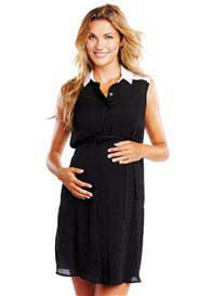 Maternal America - Sleeveless Shirt Dress