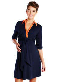 Maternal America - Front Tie Shirt Dress