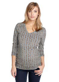 Esprit - Grey Stripe Print Top - ON SALE