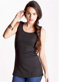 Trimester™ - Gemma Nursing Tank in Black