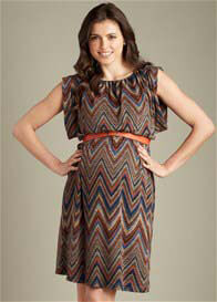 Maternal America - Ziggy Print Sweater Dress w Belt