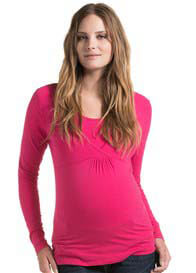 Esprit - Long Sleeve Nursing Top in Azalea - ON SALE