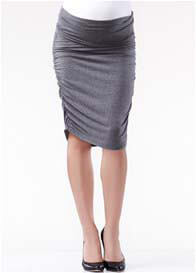 Soon Maternity - Ruched Skirt in Charcoal