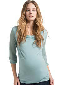 Esprit - Sheer Sleeves Blouse in Azul Blue
