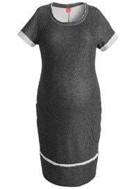 Esprit - Short Sleeve Sweat Dress in Black