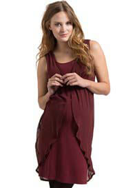 Esprit - Chiffon Party Dress in Burgundy - WINTER OFFER
