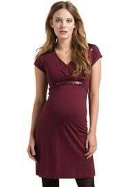 Esprit - Short Sleeve Dress in Burgundy