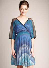 Maternal America - Blue Mason Print Dress